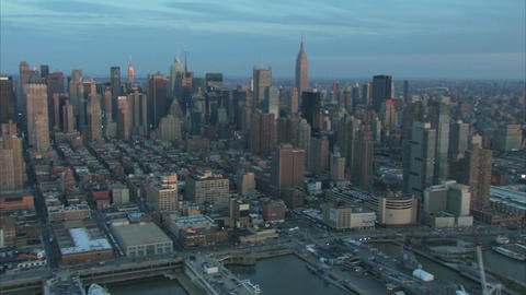 New york city early morning skyline Live Action