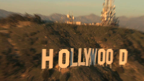 Zoom out hollywood sign Footage
