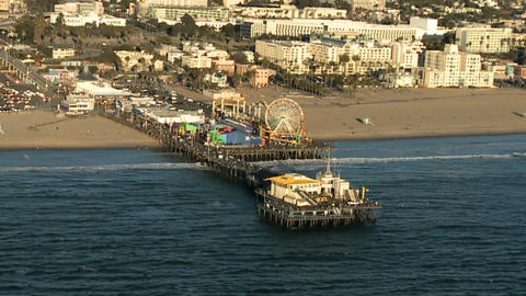 Santa monica pier aerial Footage