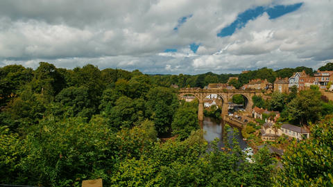 Knaresborough, North Yorkshire, England, UK Footage