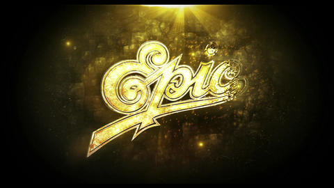 Gold Epic Logo After Effects Template