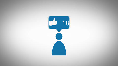 Pictogram - Person likes/favourites counter icon Image