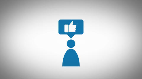 Minimalistic professional animated Pictogram for social media or business Animation