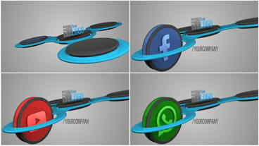 Social Media Spinner After Effects Template