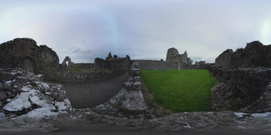 360 VR – Abandoned Athassel Priory Abbey in Ireland VR 360° Video
