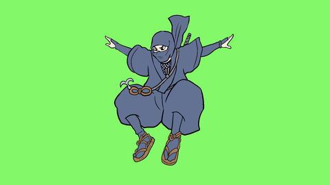 Ninja action 003 Animation