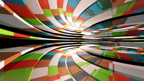 Flying through a colorful tunnel Animation