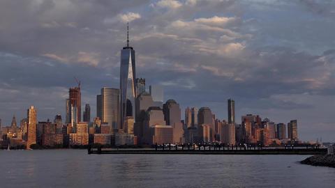 New York Sunset - Manhattan Skyline from Jersey City Live Action