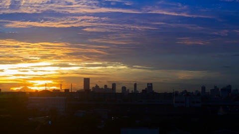 Bangkok Sky with sunset 영상물