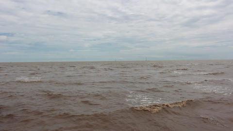 Sea wave in Thai gulf Filmmaterial