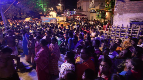 Hindu devotees dancing for Charhak festival, for welcoming Bengali new year 1424 Footage