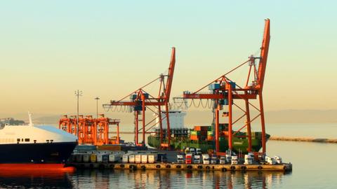 cargo port Filmmaterial
