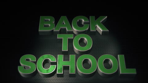 Metal 3D Text Back to school with reflection フォト