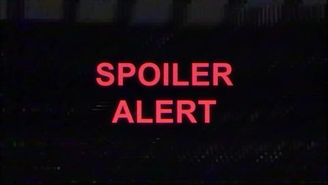 Spoiler Alert in VHS Look Image