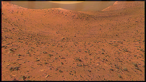 Surface of Mars Through a Rover Lens Image