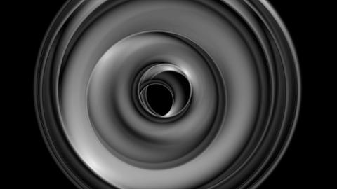 Dark grey monochrome circles video animation Animation