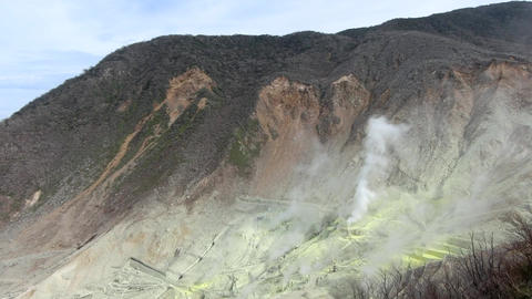 Time-Lapse video of Sulphur Vents Of active volcano Footage
