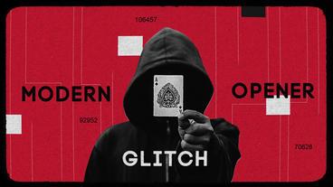 Modern Glitch Opener Premiere Pro Template