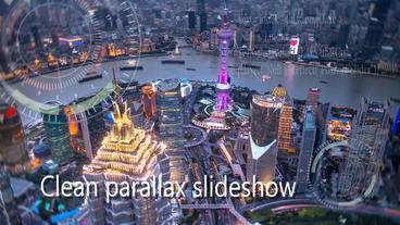 Futuristic parallax slideshow Plantilla de After Effects