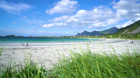 Beach lofoten archipelago islands beach Footage