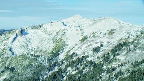Lake tahoe mountain wintery landscape Footage