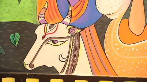 Art work on Temple wall 画像