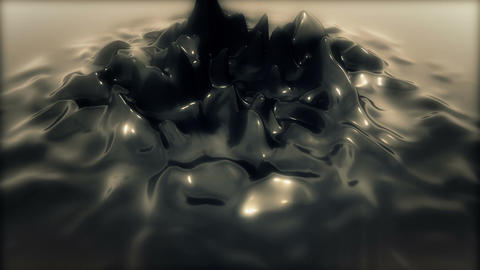 Abstract Reflective Jelly deform Animation for Intro - Fixed Cam - Silver Animation