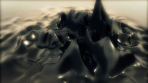 Abstract Reflective Jelly deform Animation for Intro - Cam 1 - Silver Animation