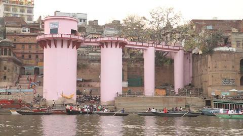 Varanasi ghat Ganges River 画像