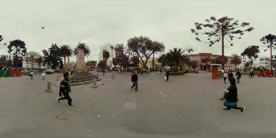 360Vr Cevallos Park And Ambato City Mark General View 360 Vr Footage