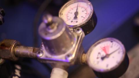 Pressure meter of a Engine Footage