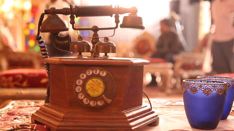 Antique wooden Land line Phone Footage