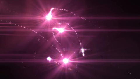 SHA Pink Light particle Effects Animation