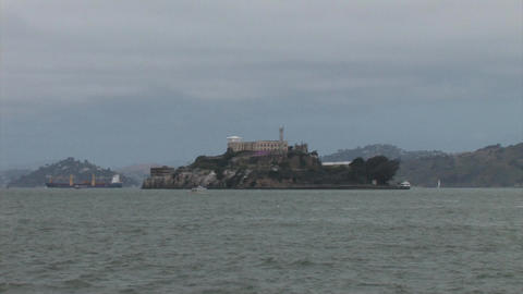 Alcatraz Island in the San Francisco Bay Footage