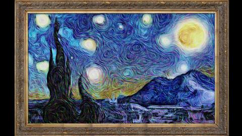 Animated Van Gogh Starry Night Animation