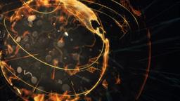 Futuristic Earth Hologram Loop stock footage