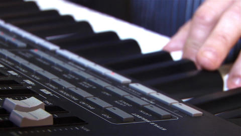 Hand to play piano keyboards 2a Footage