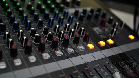 Mixing sound board 8 Footage