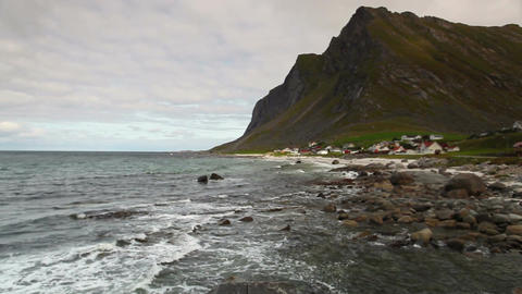 Vikten city on the dramatic coast Filmmaterial