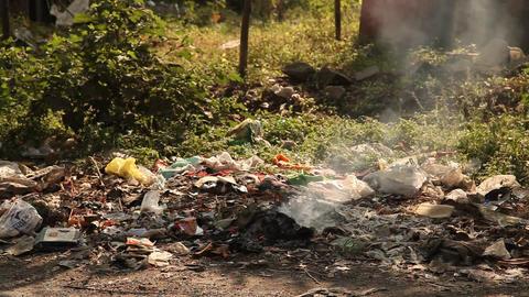 Garbage dump at rural area Filmmaterial