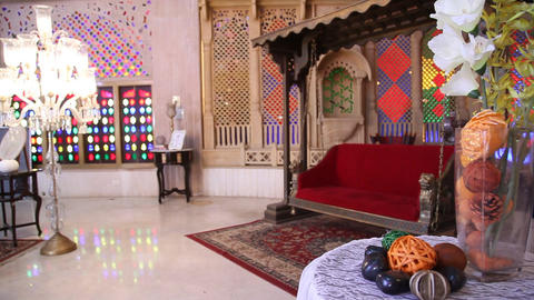 Interior of vintage fort in Rajasthan India Live Action