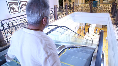 Escalators are running in the airport Footage