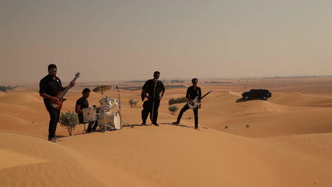 Musicians in the Desert Footage