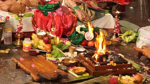Indian People at Prayer Footage
