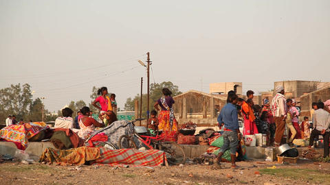 Indian people at street market Image