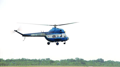 Helicopter landing Footage