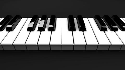 Piano Keyboard On Black Background Animation