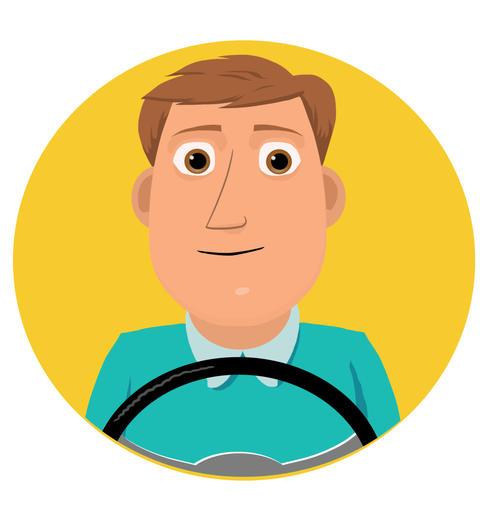 Generic Bus Driver Animación
