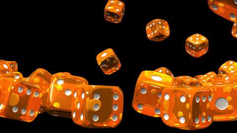 Orange Dice On Black Background, Stock Animation