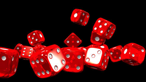 Red Dice On Black Background CG動画